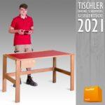 Bild 02-Schreibtisch aus Eichenholz mit Schellack