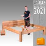 Bild 07-Bett und Nachttisch aus Eschenholz geölt