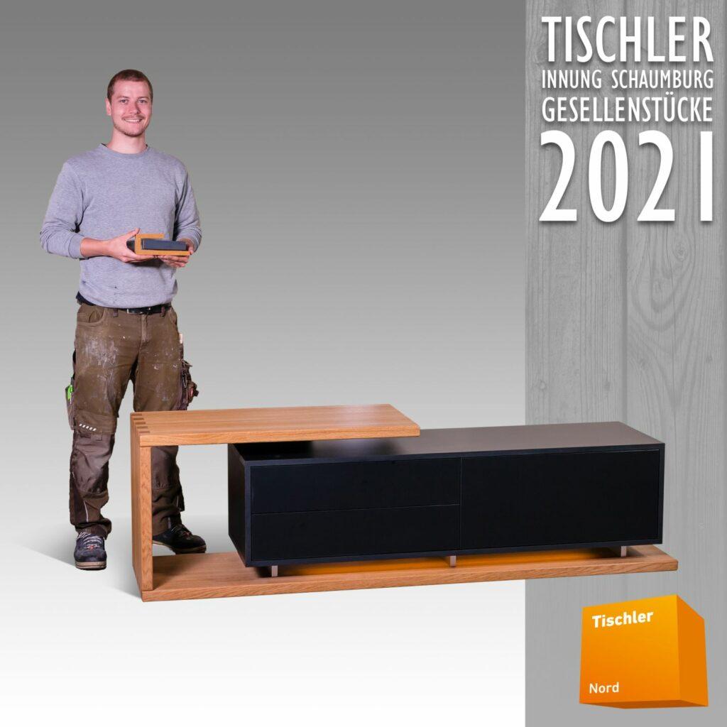 Bild 09-Lowboard aus Eichenholz geölt